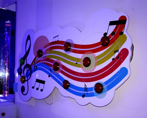 نظام الأصوات التفاعلي في غرفة آيرس الحسية في حمعية رعاية الأطفال في نابلس